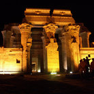 Picture - Night view of Kom Ombo Temple.