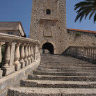Picture - Stairs leading to the Land Gate in Korcula.