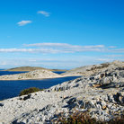 Picture - The dry landscape of the Kornati Islands.