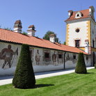 Picture - A painted wall of the Kratochvile Chateau.