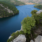 Picture - The Krka river and Krka National Park.