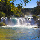 Picture - A waterfalls in Krka National Park.