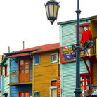 Picture - Colorful buildings in La Boca, Buenos Aires.