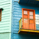 Picture - Detail of corrogated homes in La Boca, Buenos Aires.