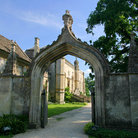 Picture - Entrance to the Lacock Abbey.