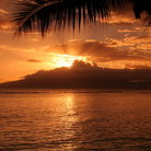 Picture - Sunset in Lahaina, Maui.