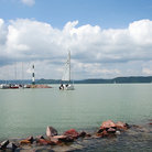 Picture - Boats on Lake Balaton.