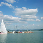 Picture - Sailboat on Lake Balaton.