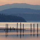 Picture - Dusk at Lake Coeur d'Alene.