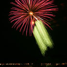 Picture - Fourth of July fireworks at Lake Coeur d Alene.