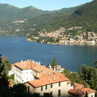 Picture - Village on the shores of Lake Como.