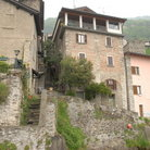 Picture - Old Houses in Corenno Plinio on Como Lake.