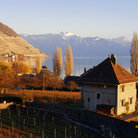 Picture - Coastline of Lake Geneva.