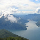 Picture - Aerial view over Lugano Lake.