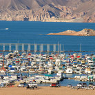 Picture - Marina on Lake Mead, Nevada.