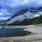 Picture - The shores of Lake Minnewanka in Banff National Park.