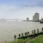 Picture - Pontchartrain Bridge over the Mississippi river, New Orleans.
