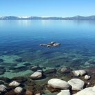 Picture - Clear water of Lake Tahoe.