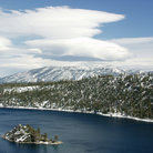 Picture - Snow on the shores of Lake Tahoe.