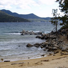 Picture - Beach on the shores of Lake Tahoe.