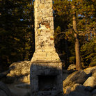 Picture - An old chimney at Chimney Beach, Lake Tahoe.