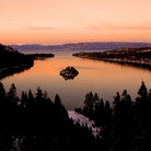 Picture - Sunset over Emerald Bay, Lake Tahoe.