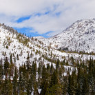 Picture - Snowy Mountains next to Lake Tahoe, Nevada.