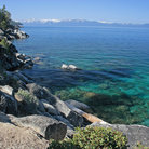 Picture - Rocky shore of Lake Tahoe.