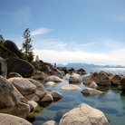 Picture - Rocky shore of Sand Harbor, Lake Tahoe.