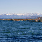 Picture - Pier stretches out into Lake Tahoe.