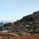 Picture - View over a settlement on Isle Amantani.