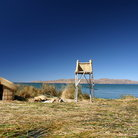 Picture - Island of reeds on Lake Titicaca.