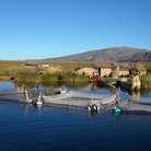 Picture - Fishing nets at the Floating Island on Lake Titicaca.