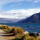 Picture - Mountains on the far shore of Lake Wakatipu.