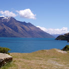 Picture - The blue waters of Lake Wakatipu near Queenstown.