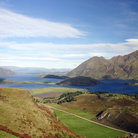 Picture - Aerial view of Lake Wanaka.