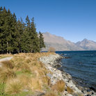 Picture - The shore of Lake Wanaka near Queenstown.