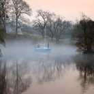 Picture - Mist on Lake Windermere in the early morning.