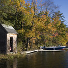 Picture - An old shed on Lake Winnipesaukee.