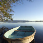 Picture - Row boat on Lake Winnipesaukee.