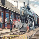Picture - A historical railway mural in downtown Markdale.