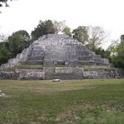 Picture - Temple of the Jaguar at the archeological site of Lamanai.
