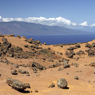 Picture - The dry landscape of the Garden of the Gods on Lanai Island.