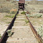 Picture - Tracks at an abandoned mine near Lander.