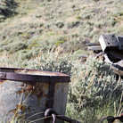 Picture - Mining bucket near Lander, Wyoming.