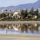 Picture - Reflection in the water at Hala Sultan tekke, Larnaca.