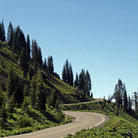 Picture - Winding Road in Lassen Volcanic National Park.