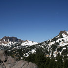 Picture - Lassen Peak, a 10,460 ft/3,187 m volcano that dominates Lassen Volcanic National Park.