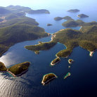 Picture - An aerial view over the island of Lastovo.