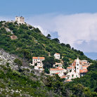 Picture - A small town in the hills on the island of Lastovo.